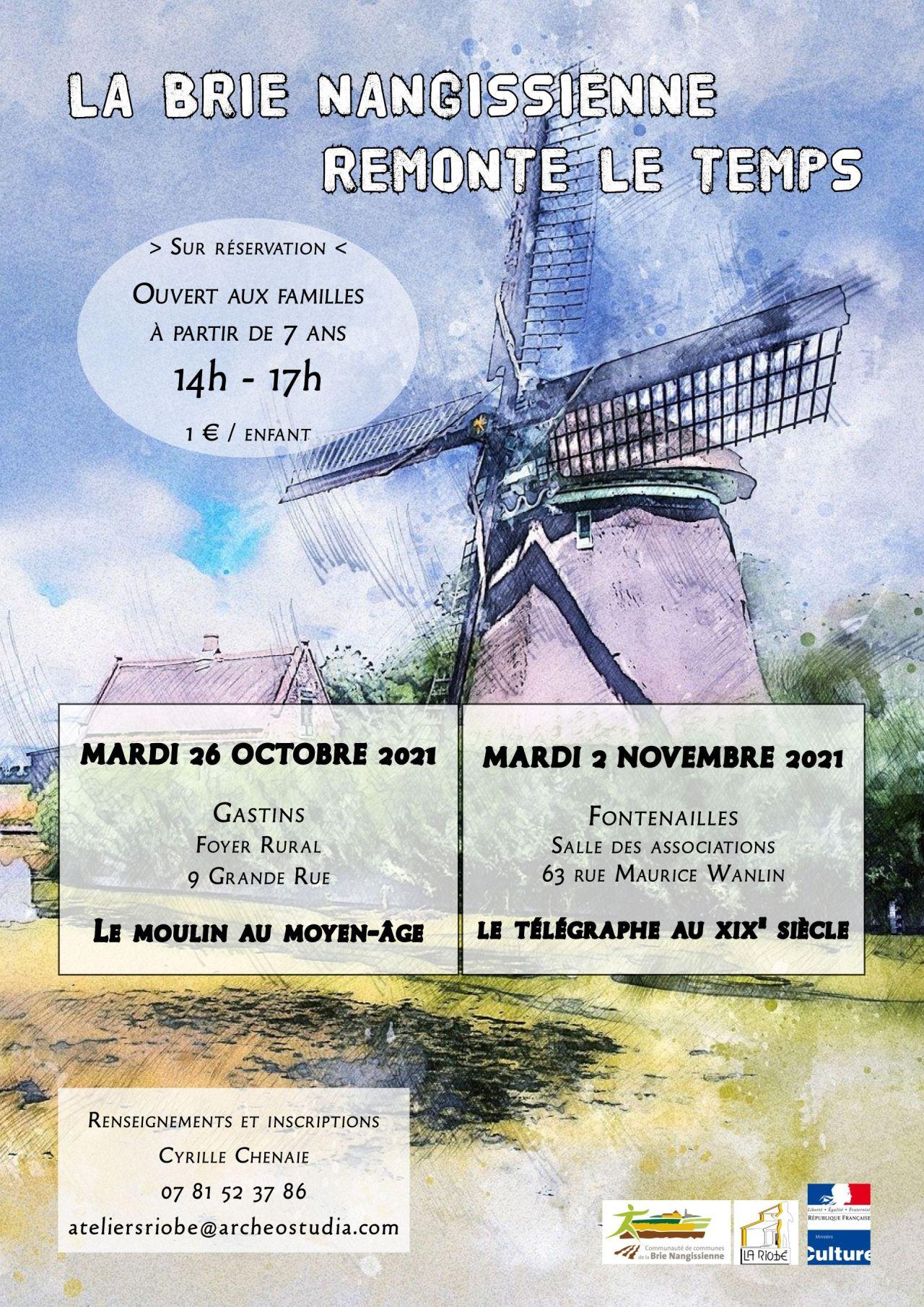 Ateliers patrimoine automne - Affiche